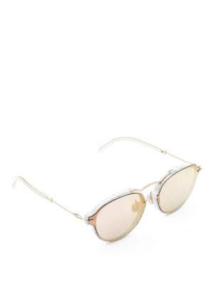 Dior: sunglasses - Eclat marbled acetate sunglasses
