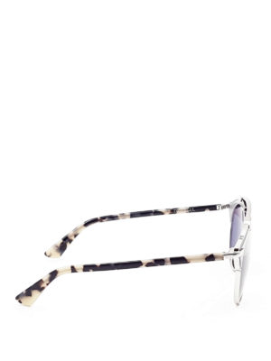 Dior: sunglasses online - So Real leather detail sunglasses