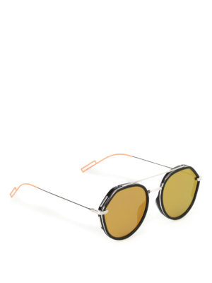 Dior: sunglasses - Orange detail sunglasses