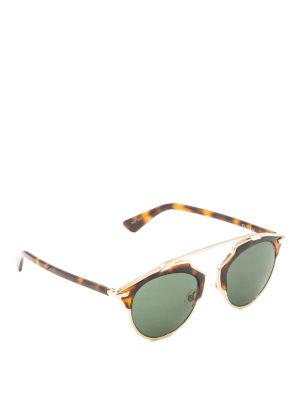 Dior: sunglasses - So Real havana and gold sunglasses