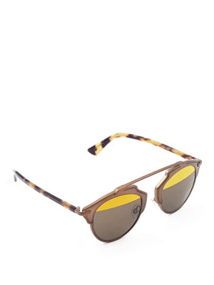 Dior: sunglasses - So Real havana arms sunglasses
