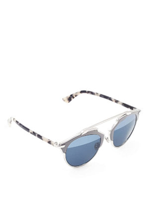Dior: sunglasses - So Real leather detail sunglasses