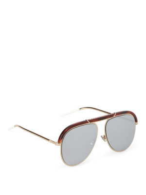 Dior: sunglasses - White detailed sunglasses