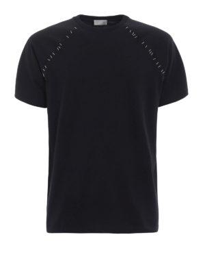 Dior: t-shirts - Staple detailed T-shirt