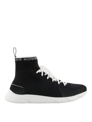 Dior: trainers - High top tech fabric sneakers