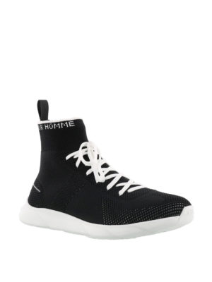 Dior: trainers online - High top tech fabric sneakers