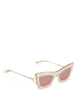 Dita: sunglasses - Erasur sheer frame sunglasses