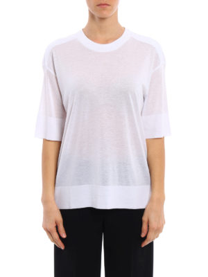 Dkny: crew necks online - Elbow-length sleeved soft sweater