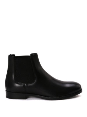Dolce & Gabbana: ankle boots - Brushed leather Chelsea boots