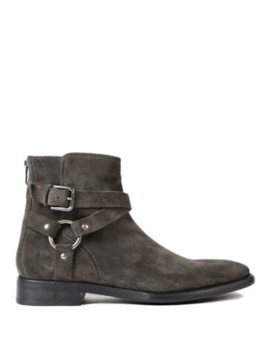 Dolce & Gabbana: ankle boots - Buckled suede booties