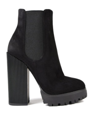Dolce & Gabbana: ankle boots - Chunky heeled suede booties