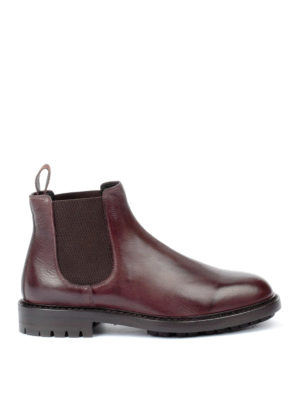 Dolce & Gabbana: ankle boots - Grosgrain puller leather booties