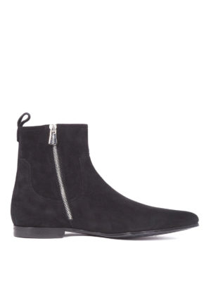 Dolce & Gabbana: ankle boots - James Bond line suede ankle boots
