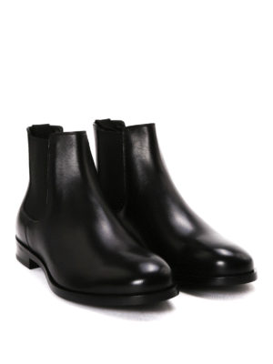 Dolce & Gabbana: ankle boots online - Brushed leather Chelsea boots