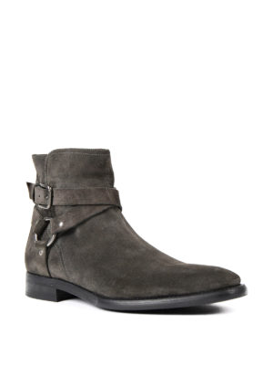 Dolce & Gabbana: ankle boots online - Buckled suede booties
