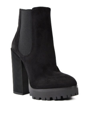 Dolce & Gabbana: ankle boots online - Chunky heeled suede booties