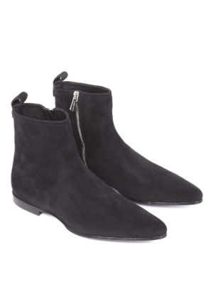 Dolce & Gabbana: ankle boots online - James Bond line suede ankle boots