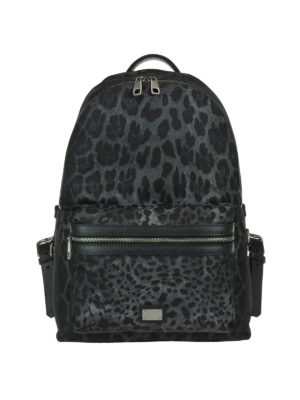 Dolce & Gabbana: backpacks - Animal print backpack