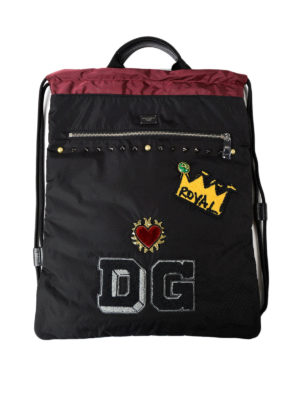 Dolce & Gabbana: backpacks - Backpack with drawstring and patch