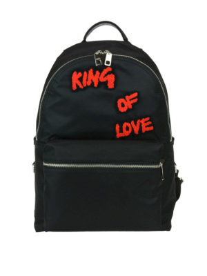 Dolce & Gabbana: backpacks - Backpack with King Of Love patches
