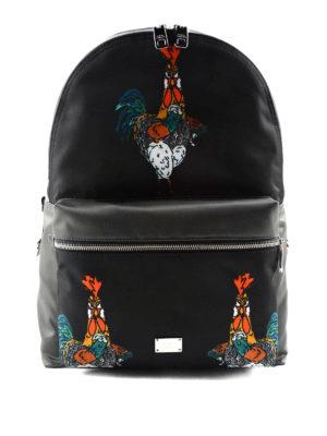 Dolce & Gabbana: backpacks - Cockerel print backpack