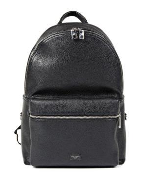 Dolce & Gabbana: backpacks - Deer leather dome backpack