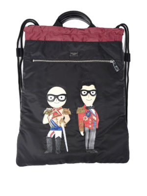 Dolce & Gabbana: backpacks - Designers patch nylon backpack