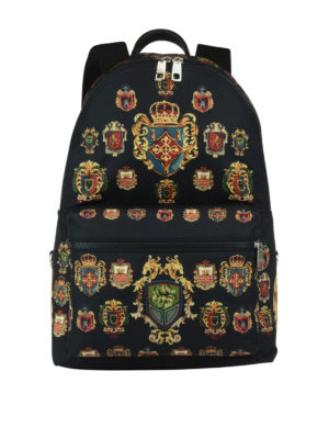 Dolce & Gabbana: backpacks - Heraldic Sicilia printed backpack