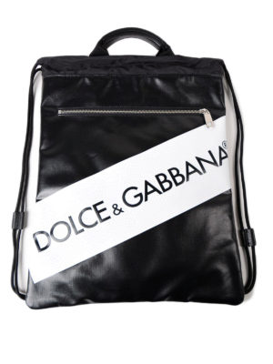 Dolce & Gabbana: backpacks - Logo drawstring flat backpack