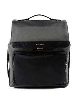 Dolce & Gabbana: backpacks - Maxi pocket nylon backpack