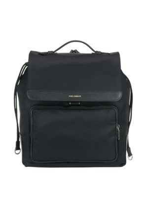 Dolce & Gabbana: backpacks - Maxi pocket nylon backpack