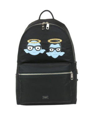 Dolce & Gabbana: backpacks - Nylon backpack with #DGFamily patch