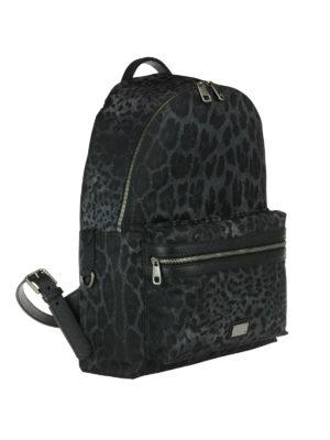 Dolce & Gabbana: backpacks online - Animal print backpack