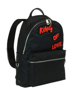 Dolce & Gabbana: backpacks online - Backpack with King Of Love patches