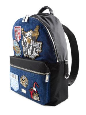 Dolce & Gabbana: backpacks online - Good Times patch denim backpack