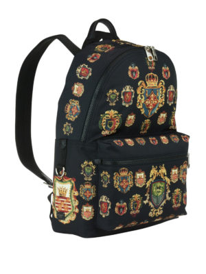 Dolce & Gabbana: backpacks online - Heraldic Sicilia printed backpack