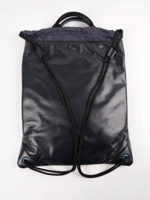 Dolce & Gabbana: backpacks online - Leather backpack with drawstring