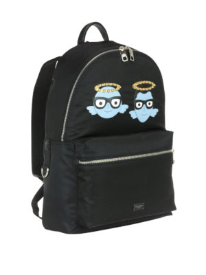 Dolce & Gabbana: backpacks online - Nylon backpack with #DGFamily patch