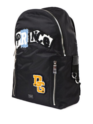Dolce & Gabbana: backpacks online - Nylon backpack with Prince patch