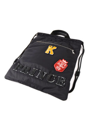 Dolce & Gabbana: backpacks online - Prince patch nylon backpack