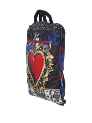Dolce & Gabbana: backpacks online - Printed nylon flat backpack