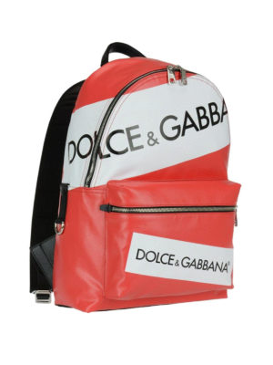 Dolce & Gabbana: backpacks online - Red Vulcano logo backpack