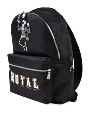 Dolce & Gabbana: backpacks online - Royal backpack with skeleton patch