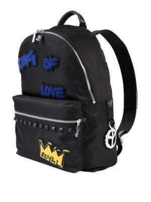 Dolce & Gabbana: backpacks online - Royal patch nylon backpack