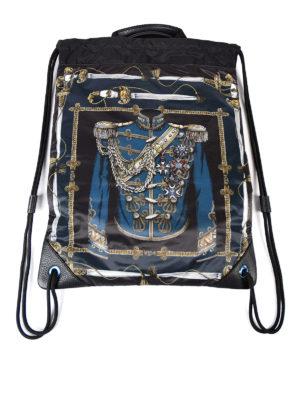 Dolce & Gabbana: backpacks online - Uniform print nylon backpack
