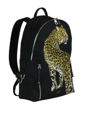 Dolce & Gabbana: backpacks online - Vulcano backpack with leopard print