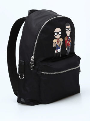 Dolce & Gabbana: backpacks online - Vulcano designer patch backpack
