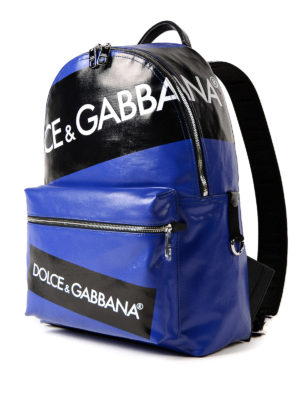 Dolce & Gabbana: backpacks online - Vulcano logo blue backpack