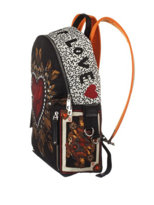 Dolce & Gabbana: backpacks online - Vulcano printed nylon backpack