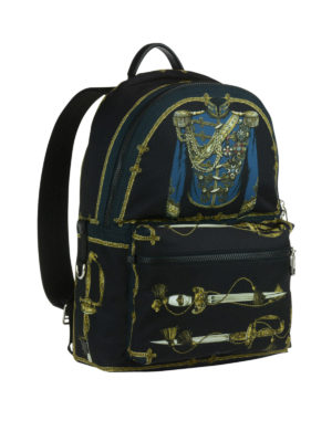Dolce & Gabbana: backpacks online - Vulcano swords print backpack